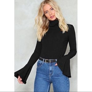 Nasty Gal Turtle Neck With Bell Sleeves